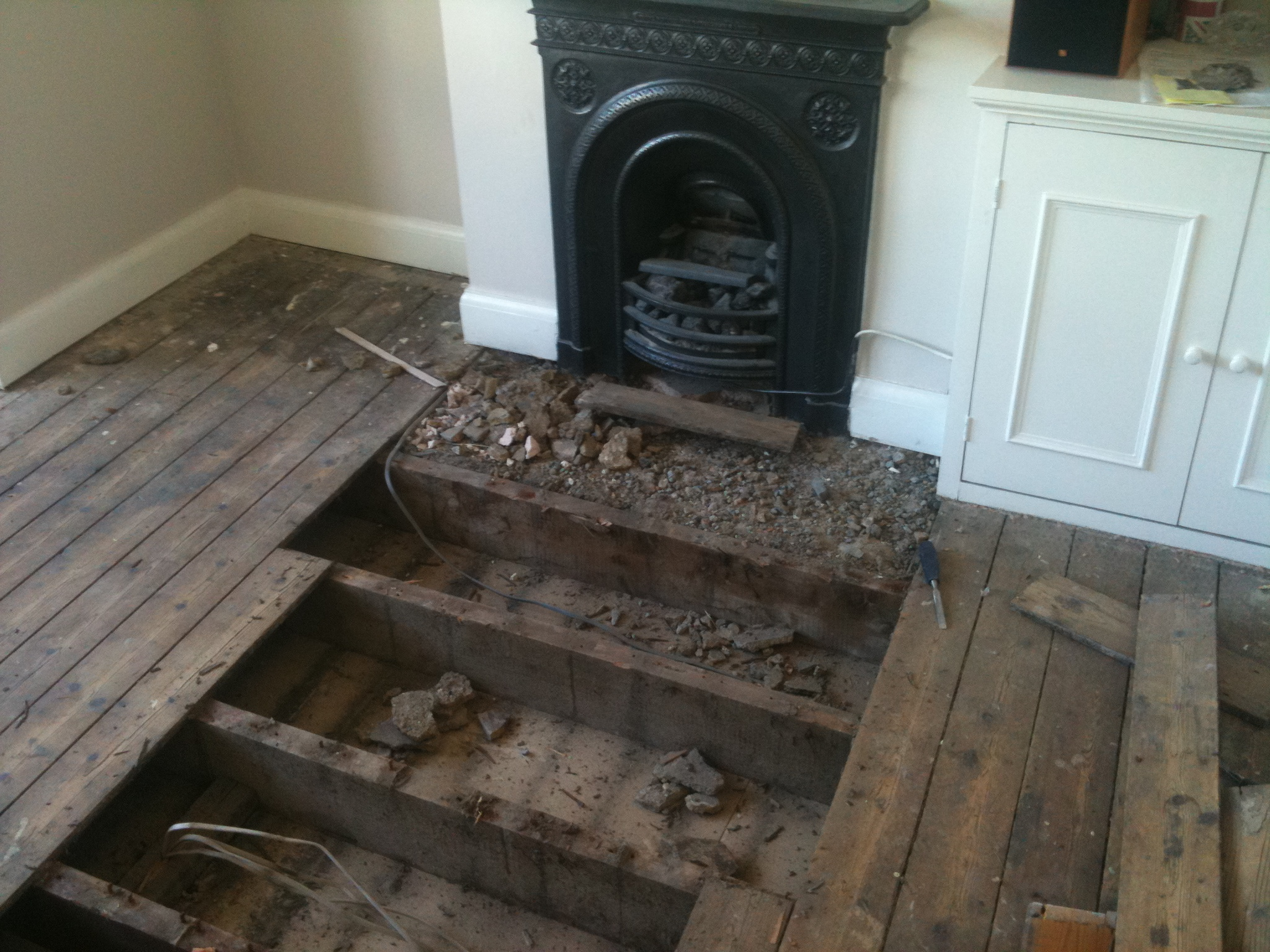 Removing Fireplace